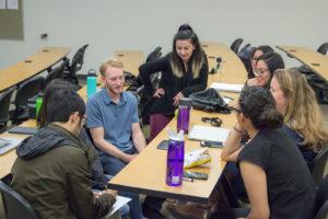 students deliberating majors