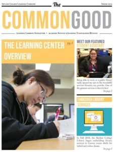 The Common Good Spring 2019.First Page