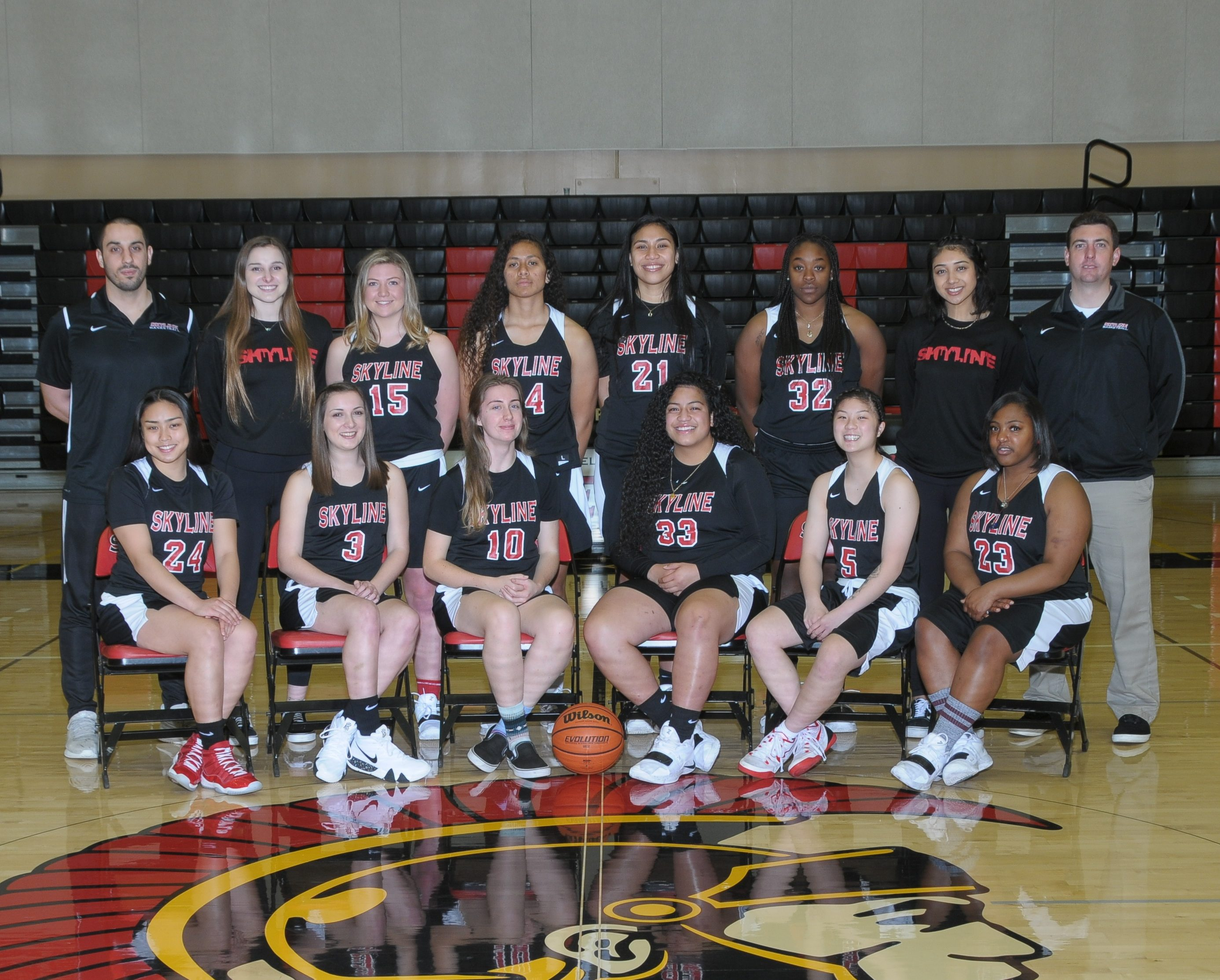 women's basketball team photo