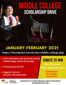 Middle College Scholarship Flyer
