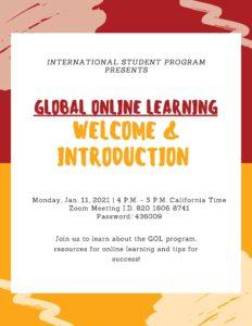 Global Online Learning Flyer